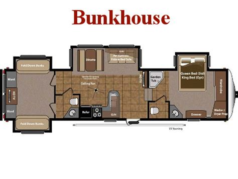 fifth wheel bunkhouse floor plans new fifth wheels for sale broadmoor rv superstore