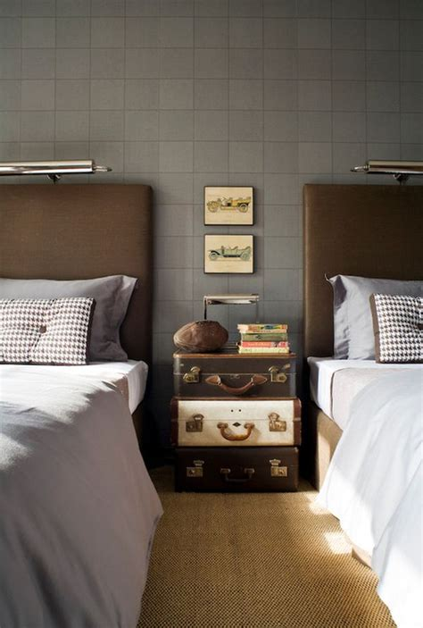 Suitcase Nightstand by Uber Masculine Ways To Style The Nightstand