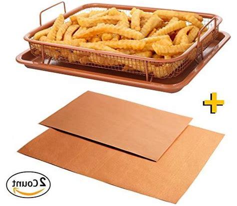 copper air fryer sheet baking purpose multi crisper deluxe chef grill tray pan stick non mesh oven frying