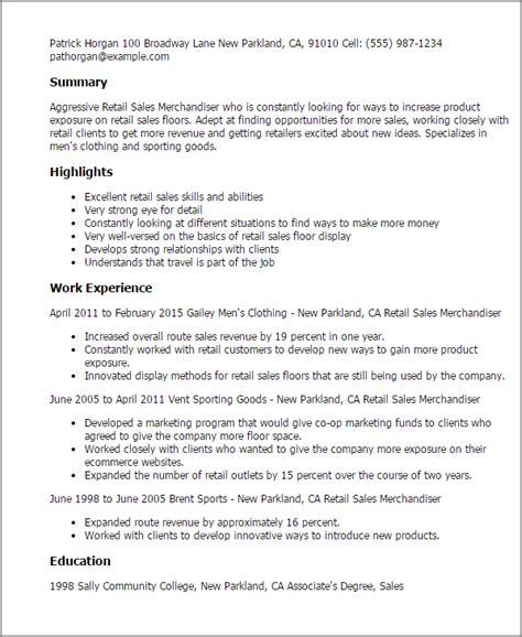 Visual Merchandising Resume by Retail Sales Merchandiser Resume Template Best Design