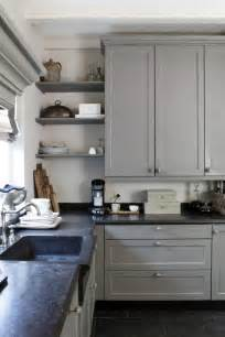 Cabinet Gray Kitchen with Soapstone Counters