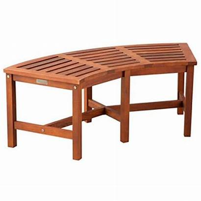 Curved Bench Pit Fire Wood Solid Eucalyptus