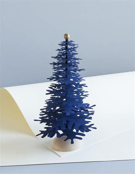 christmas paper tree decoration kit dark blue medium