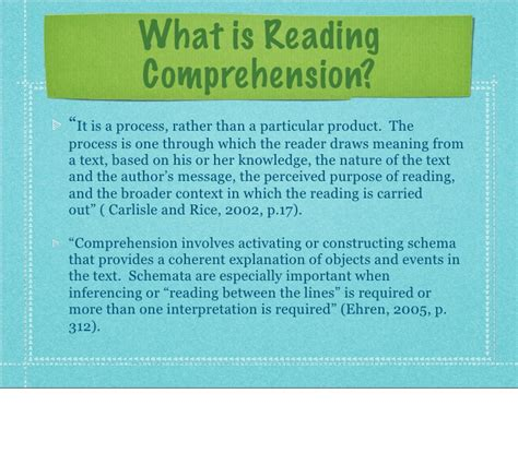 Reading Comprehension And Technology
