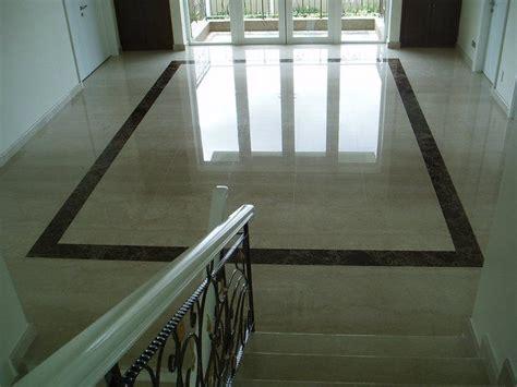 marble floor  black granite border marble floor