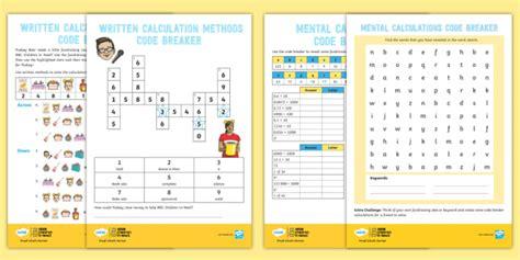* New * Uks2 Bbc Children In Need Code Breaker Maths Differentiated