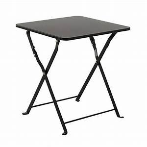 Table D Appoint : table d 39 appoint pliante nindiri noir meuble d 39 appoint eminza ~ Teatrodelosmanantiales.com Idées de Décoration