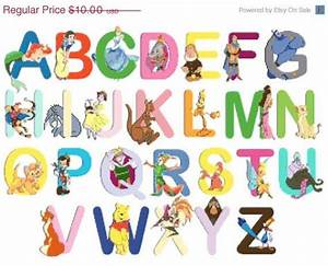 ON SALE INSTANT Download - Alphabet Disney characters - 23 ...