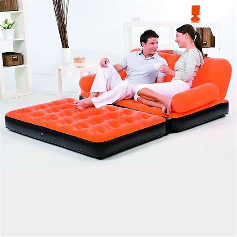 canapé lit gonflable canapé lit gonflable 4 en 1 orange pompe incluse