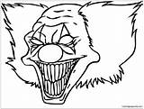 Clown Funny Coloring Adults sketch template
