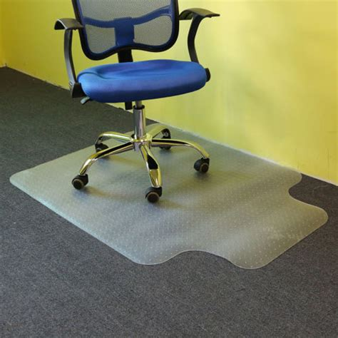 Desk Chair Mat For Carpeted Floors by 48 Quot X 36 Quot Pvc Home Office Floor Chair Mat Studded With Lip