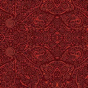 bridal mendhi - red fabric - weavingmajor - Spoonflower