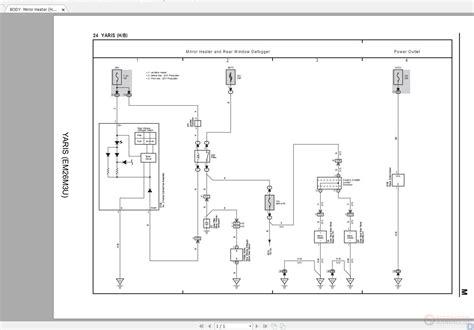 toyota yaris 2016 2018 yaris em26m0u electrical wiring diagram auto repair manual forum