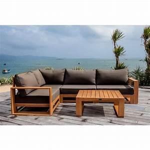 Canape De Jardin En Bois : salon de jardin en bois 12 places topiwall ~ Dallasstarsshop.com Idées de Décoration