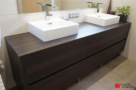 salle de bain avec meuble cuisine salle de bains sur mesure en alsace cuisines et créations