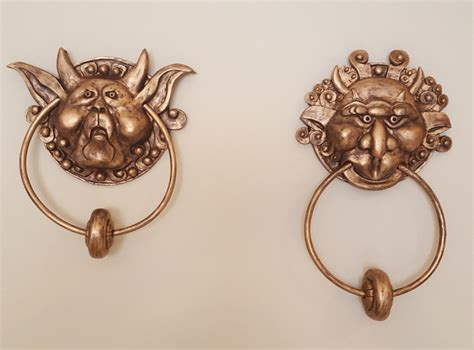 labyrinth door knockers the labyrinth door knockers pair left and right