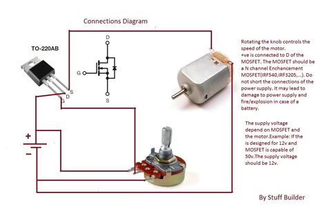 Dc Motor Switch Wiring Diagram by How To Build The Simplest Dc Motor Speed Controller Using