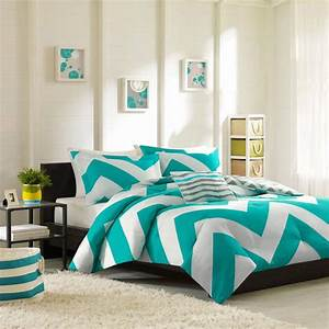 Turquoise, And, White, Bedding, Set, Product, Selections, U2013, Homesfeed
