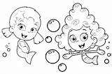 Bubbles Coloring Pages Blowing Printable Getcolorings Print sketch template