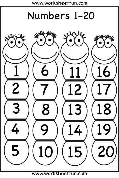 numbers 1 20 printable worksheets pinterest charts number chart and numbers
