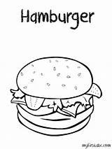 Coloring Pages Sheets Hamburger Colouring Printable Cheeseburger Hamburgers Weather Burgers Template Preschool Crispy A4 Printables sketch template