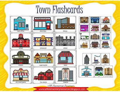Town Past Tense Simple Flashcards Flashcard Places