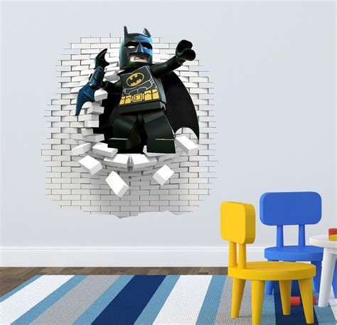 Lego Bedroom Wall Decals by 3d Lego Batman Wall Decal Great For The Room By