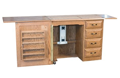 wooden sewing cabinet furniture compact sewing machine cabinet amish solid wood