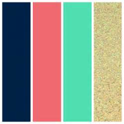 coral color wedding color palette navy coral seafoam and gold