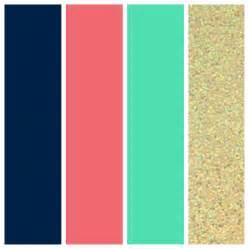 coral color scheme wedding color palette navy coral seafoam and gold