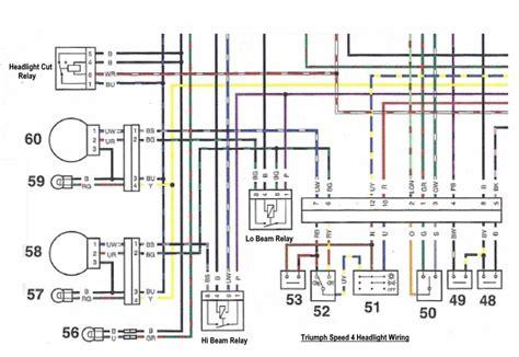 Tiger 1050 Wiring Power Schematic by Speed Four Dual Headlight Wiring Triumph Forum Triumph