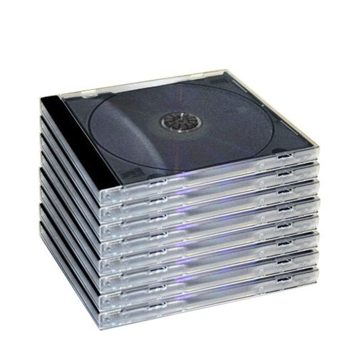jewel case 10 4mm standard single black tray assembled cd