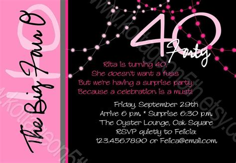 birthday invitation : 40th birthday invitations Free