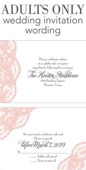 wedding invitation wording sles adults only wedding invitation wording invitations by