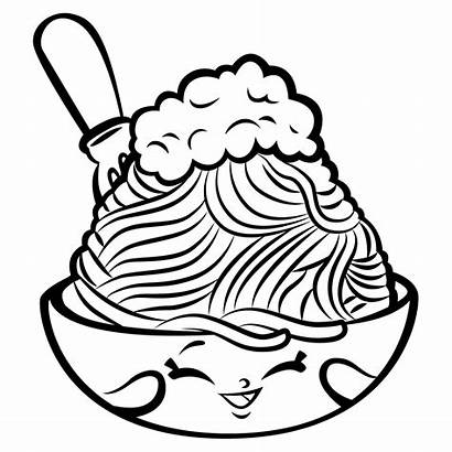 Shopkins Coloring Pages Season Spaghetti Netti Foods