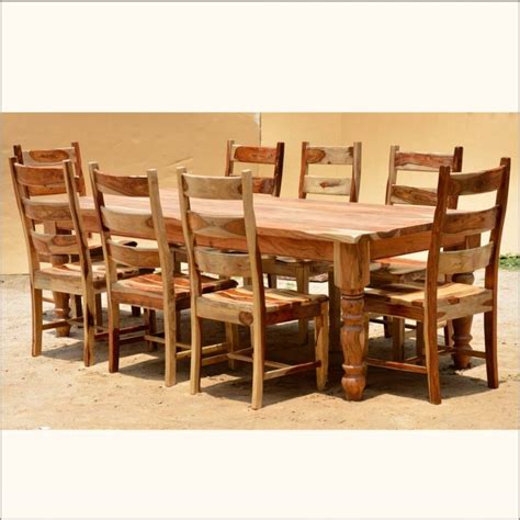 kitchen table and chairs set furniture brown wooden rectangle dining table with six