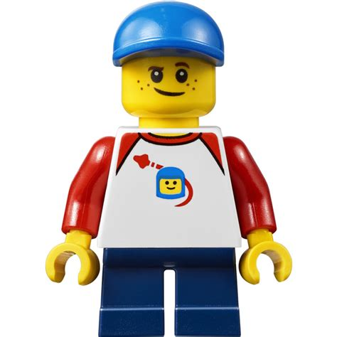 lego city people pack boy  blue cap minifigure brick
