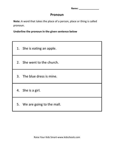 worksheet pronoun worksheet for class 2 carlos lomas