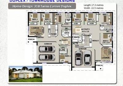 Corner Block Duplex Designs by 6pack