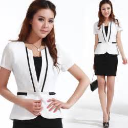white women suits with black dress 2013 summer work wear