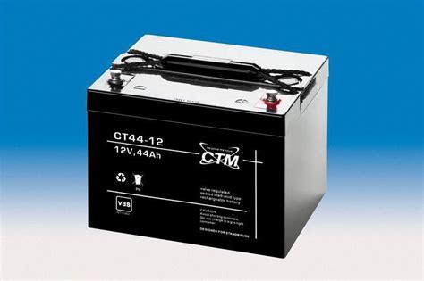 batterie 12v 44ah ctm wartungsfreie agm batterie bleiakku ct44 12i 12 volt 44 ah