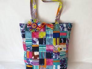 Création Avec Tissus : sac cabas en patchwork de tissus multicolores ~ Nature-et-papiers.com Idées de Décoration