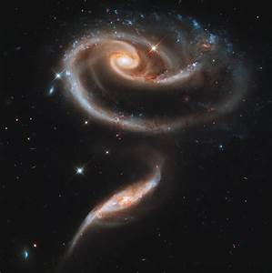 Nasa's Hubble telescope shows 'space rose' of 2 galaxies ...