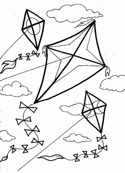 Coloring Pages Wind Windy Blowing Getcolorings Kite