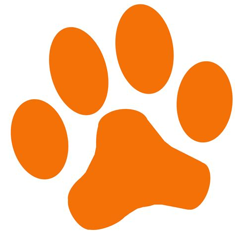 tiger paw print clip art clipart best