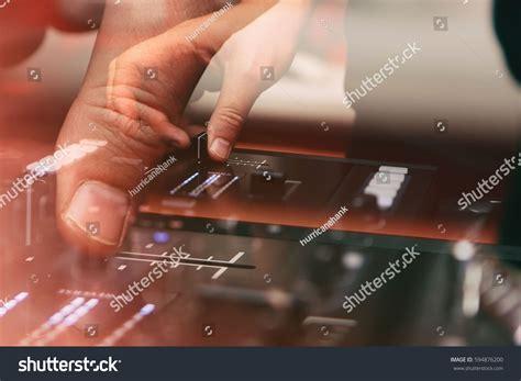 Professional Party Dj Audio Mixer Controller Stock Photo