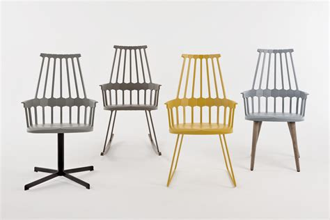 comback rocking chair yellow wood by kartell