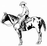 Cowboy Characters Coloring Drawing Pages Printable Drawings sketch template