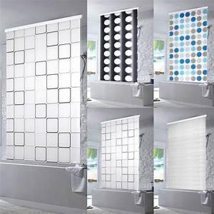 Rollos Für Badezimmer : halb kassetten duschrollo duschvorhang dusche rollo seilzug badewannenvorhang ebay ~ Markanthonyermac.com Haus und Dekorationen