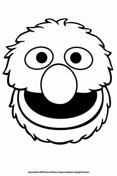 Coloring Grover Sesame Street Face Pages Elmo